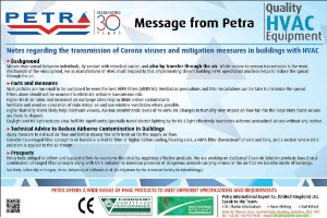 Transmission and mitigation of the spread of corona viruses